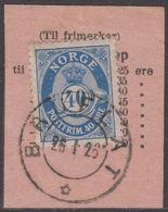 1922. Posthorn. 40 øre Deep Ultramarine. LUXUS BRUFLÅT 26 1 26. (Michel 103) - JF318228 - Gebraucht