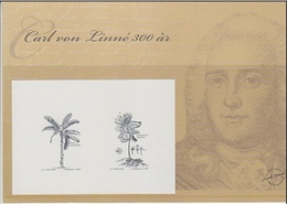 CARL VON LINNE  SCIENCE  BOTANY SWEDEN 2007  Proof RECESS PRINT STAHLDRUCK Botanique Botanic Plants - Plants
