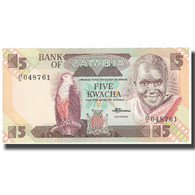 Billet, Zambie, 5 Kwacha, KM:25d, SPL - Zambia