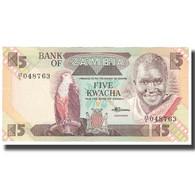 Billet, Zambie, 5 Kwacha, KM:25d, SPL - Zambie