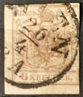 AUSTRIA 1850/54 - WIEN Cancel - ANK 4 - 6kr - Used Stamps