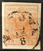AUSTRIA / LOMBARDO-VENEZIA 1850/54 - PADOVA Cancel - ANK LV3 - 15 Centes - 1850-1918 Imperium