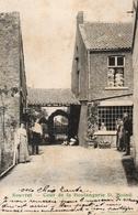 RARE! SOUVRET Voisin De Courcelles, Roux Et Trazegnies. COUR DE LA BOULANGERIE MOINIL. Edit: Grégoire. Envoyée 1913 - Belgique