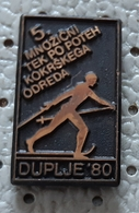 Cross-country Skiing  Marathon Duplje 1980  Slovenia Ex Yugoslavia Pin - Wintersport
