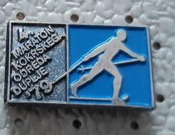 Cross-country Skiing  Marathon Duplje 1979  Slovenia Ex Yugoslavia Pin - Wintersport