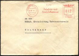 "(1911) Freistempel LIMBURG (Lahn) Vom 22.10.1941, ""Industrie- Und Handelskammer"", An NSDAP Kreisleitung Montabaur - Marcofilia - EMA ( Maquina De Huellas A Franquear)"