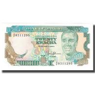 Billet, Zambie, 20 Kwacha, KM:32b, SPL - Zambia