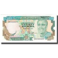Billet, Zambie, 20 Kwacha, KM:32b, SPL+ - Zambie