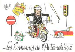Illustration De OZIOULS , Les Ennemis De L'automobile , Police/Gendarmerie Moto , * M 15 98 - Oziouls