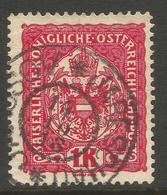 AUSTRIA / CZECH / BOHEMIA. 1K USED JAROSOV / JARESCHAU POSTMARK. - 1850-1918 Empire