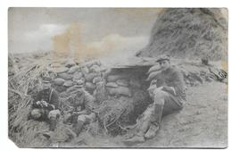 Soldats Armée Belge  Dans Une Tranchée  Photo Carte - Guerre, Militaire