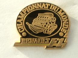 PIN'S FORMULE 1 - RENAULT MOTEUR - CHAMPIONNAT DU MONDE - ARTHUS BERTRAND - F1