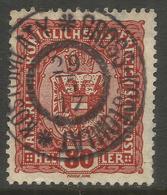 AUSTRIA / CZECH / BOHEMIA. 80h USED KOSTOMLATY / GROSS KOSTOMLAT POSTMARK. - 1850-1918 Empire