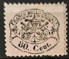 ROMAN STATES 1868 - MNG - Sc# 25e - 80c - Etats Pontificaux