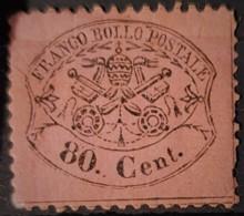 ROMAN STATES 1868 - MNG - Sc# 25 - 80c - Stato Pontificio