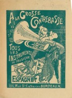 33 , A La Grosse Contrebasse , Instruments De Musique , Espagnet A Bordeaux * M 23 18 - Bordeaux