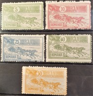 ROMANIA 1903 - MLH - Sc# 160, 161, 163, 164, 165 - 1881-1918: Charles I