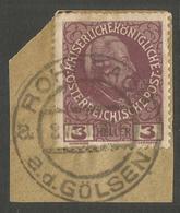 AUSTRIA. 3h ON PIECE POSTMARK ROHRSACH AD GOLSEN - 1850-1918 Empire