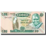 Billet, Zambie, 20 Kwacha, KM:27d, SPL - Zambie