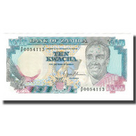 Billet, Zambie, 10 Kwacha, KM:31b, SPL - Zambie