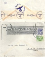 """Zensur Brief  """"Delicatessen Fabriek Van Asperen, Dordrecht""""          1940 - Storia Postale"""