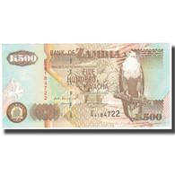 Billet, Zambie, 500 Kwacha, 1992, KM:39a, SPL+ - Zambie