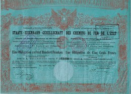 Titre Ancien - Société Autrichienne Impériale Royale Des Chemins De Fer De L'Etat - Obligation  De 1867 - - Chemin De Fer & Tramway