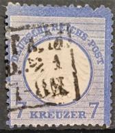 DEUTSCHES REICH 1872 - Canceled - Mi 10 - Kleines Brustschild - 7kr - Oblitérés