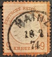 DEUTSCHES REICH 1872 - MAINZ Cancel - Mi 27 - Grosses Brustschild - 9kr - Allemagne