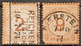 DEUTSCHES REICH 1874 - Canceled - Mi 29, 30 - 2.5g 9kr - Allemagne