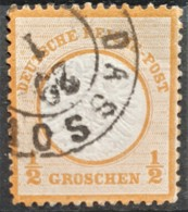 DEUTSCHES REICH 1872 - Canceled - Mi 18 - Grosses Brustschild 1/2g - Deutschland