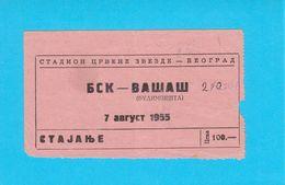 FK BSK Vs VASAS SC - 1956. International Football Match Ticket * Soccer Fussball Calcio Foot Hungary Budapest RRR - Tickets D'entrée