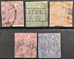 NORDDEUTSCHER POSTBEZIRK 1868 - Canceled - Mi 1-5 - Norddeutscher Postbezirk