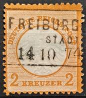 DEUTSCHES REICH 1872 - FREIBURG Cancel - Mi 8 - Kleines Brustschild 2kr - Oblitérés