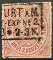 NORDDEUTSCHER POSTBEZIRK 1868 - FRANKFURT/MAIN Cancel - Mi 9 - 3kr - Norddeutscher Postbezirk