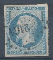 N°14 VARIETE MARQUER AU VERSO. - 1853-1860 Napoléon III.
