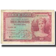 Billet, Espagne, 10 Pesetas, 1935, KM:86s, TB+ - 10 Pesetas