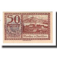 Billet, Autriche, Mondsee O.Ö. Marktgemeinde, 50 Heller, Personnage, 1920 - Austria