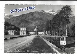 Piemonte Biella Oropa Veduta Particolare Treno Per Oropa In Sosta Ingresso Santuario Anni 50 - Treinen