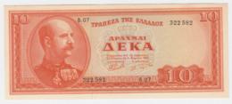 Greece 10 Drachmai 1955 UNC NEUF Pick 189b  189 B - Grèce