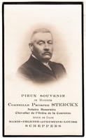 Image Mortuaire - Corneille Prosper Sterckx - Notaire - Chevalier De L' Ordre De La Couronne - Né Sempst 1848 - Devotion Images