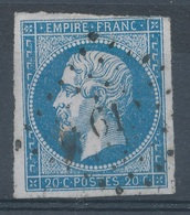N°14 VARIETE MARQUER AU VERSO. - 1853-1860 Napoleone III