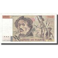 France, 100 Francs, Delacroix, 1991, 1991, TB+, Fayette:69bis.3a3, KM:154e - 1962-1997 ''Francs''