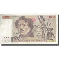 France, 100 Francs, Delacroix, 1990, 1990, TB+, Fayette:69bis.2c, KM:154e - 1962-1997 ''Francs''