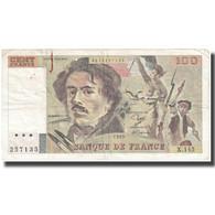 France, 100 Francs, Delacroix, 1989, 1989, TB+, Fayette:69.13b, KM:154d - 1962-1997 ''Francs''