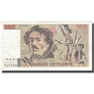 France, 100 Francs, Delacroix, 1989, 1989, TB+, Fayette:69.13d), KM:154e - 1962-1997 ''Francs''