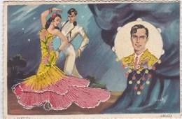 Carte Brodée - Farruca & Arruza - Danse Flamenco Torero Tauromachie Broderies - CAD Hendaye (64) - Andere