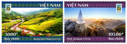 Viet Nam Vietnam MNH Stamps 2017 : Lao Cai National Tourism Year / Landscape / Fansipan Mountain Peak (Ms1075( - Vietnam