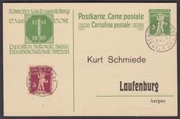 FLIEGERTRUPPE /  STEMPEL AUF PK NACH LAUFENBURG - Briefe U. Dokumente