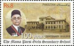 MNH** Pakistan - The 100th Anniversary Of The Mama Parsi ...- 2018) - Pakistan